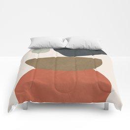 Abstract Balancing Stones Comforters