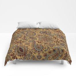 Cosmic Paisley Henna Comforters