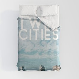 Twin Cities Skylines and Clouds-Minneapolis and Saint Paul Minnesota Comforters