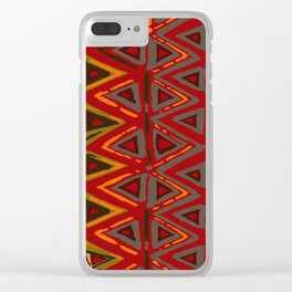 Aztec Fire Ritual Batik Clear iPhone Case