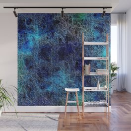 Colorful Cool Rich Jewel Tones Blue Abstract Wall Mural