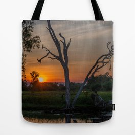 Sunset over Billabong Tote Bag