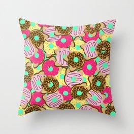Dough Cats Throw Pillow