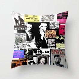 Punk Rock Heritage Throw Pillow