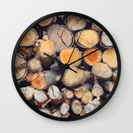 Stacked logs slice view Wall Clock