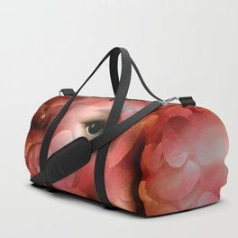"""""""Lady in autumn rose"""" Duffle Bag"""