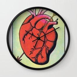 Vintage El Corazon Tarot Card Heart Love Artwork, Design For Prints, Posters, Bags, Tshirts, Wall Clock