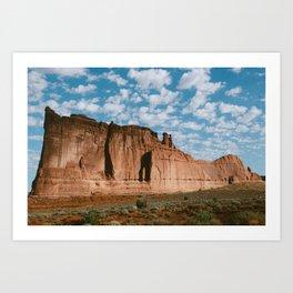 Huge rock outcropping in Utah Art Print