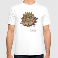 Echeveria Agavoides White Mens Fitted Tee MEDIUM