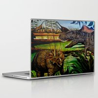 dinosaurs Laptop & iPad Skins featuring DINOSAURS by shannon's art space