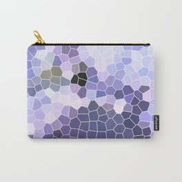 Abstract Purple Mosaic Art | Geometric | Spring Carry-All Pouch