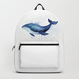 Blue Galaxy Whale Backpack