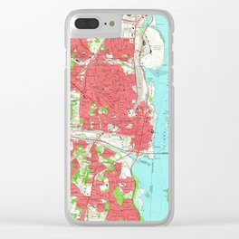 Vintage Map of Alexandria Virginia (1965) Clear iPhone Case