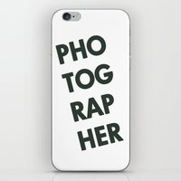 photographer iPhone & iPod Skins featuring Photographer by Rothko