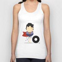 super hero Tank Tops featuring My Super hero! by Juliana Rojas | Puchu