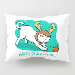 Christmas cat - happy christmas Pillow Sham