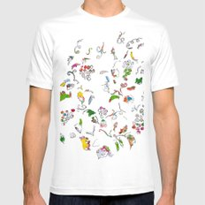 Grape bubbles Mens Fitted Tee MEDIUM White