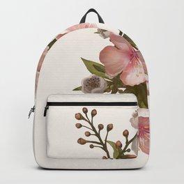 Blush Pink Watercolor Flowers Artwork Backpack