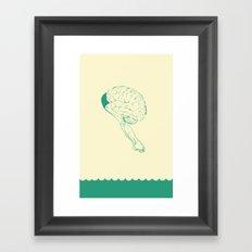 Think or Swim Framed Art Print