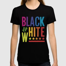 Colorful Black and White T-shirt