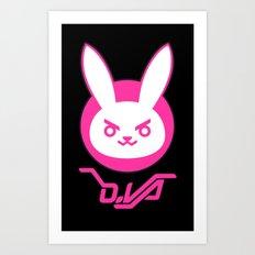 D-Bunny Art Print