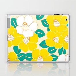 Japanese Style Camellia - Yellow and White Laptop & iPad Skin