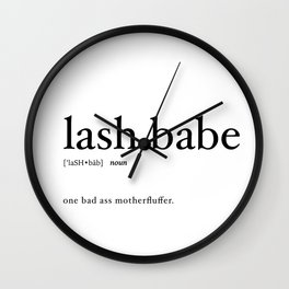 LASH BABE Wall Clock