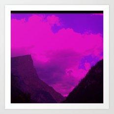 landscape, altered colors 05 Art Print