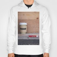 cigarettes Hoodies featuring Cigarettes and coffee by RMK Creative