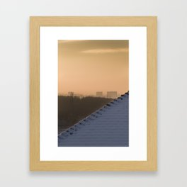 Suburban haze Framed Art Print