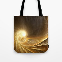 Golden Spiral Tote Bag