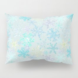 icy snowflakes Pillow Sham