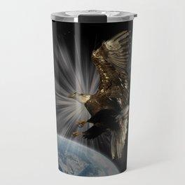 """Possibilities"" Bald Eagle Inspirational Design Travel Mug"