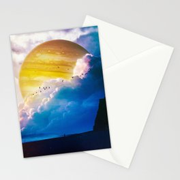 Blue Beach Stationery Cards