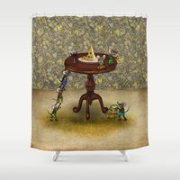 cheese Shower Curtains featuring Cheese by Anna Shell
