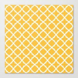 Yellow Vintage Pattern Canvas Print