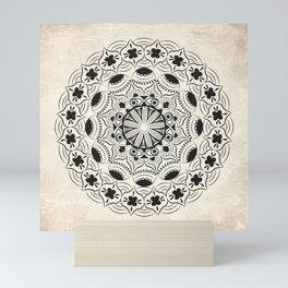 Mandala2Black Mini Art Print