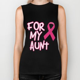 Pink Ribbon For My Aunt Breast Cancer Awareness Biker Tank