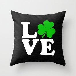 Love with Irish shamrock Throw Pillow