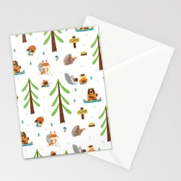 Woodland Campers Pattern Stationery Cards