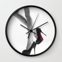 legs Wall Clocks featuring Legs by Erik Brede
