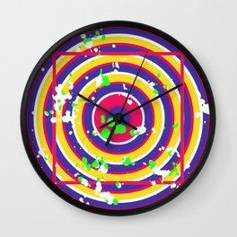 Circle Square Optical Deception Gift Colorful Wall Clock