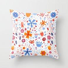 English Meadow Throw Pillow