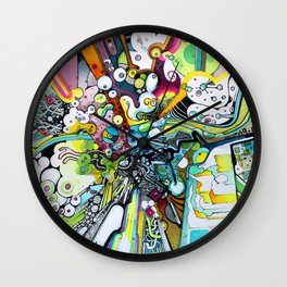 Tubes of Wonder - Watercolor Painting and Time-lapse Wall Clock