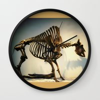 buffalo Wall Clocks featuring Buffalo by Mandy Chesnut
