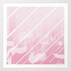 Pink Glide Art Print