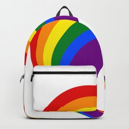 Colorful Rainbow Heart LGBT Gay Love Pride Support Backpack