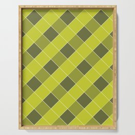 PLAID, OLIVE AND CHARTREUSE Serving Tray