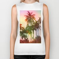 tropical Biker Tanks featuring tropical by mark ashkenazi