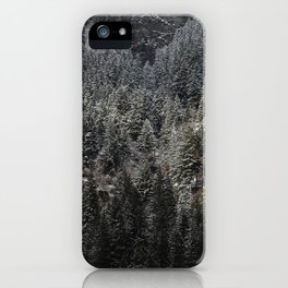 Powdered Mountain iPhone Case